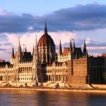 Ungerns parlamentsbyggnad Budapest